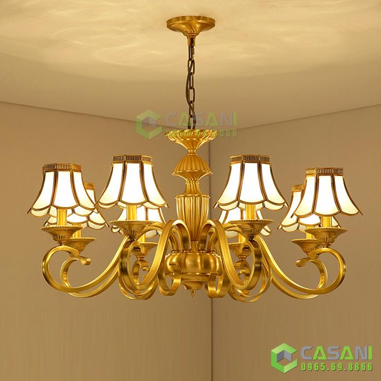 Gợi ý những kiểu dáng đèn chùm trang trí phòng khách nhỏ