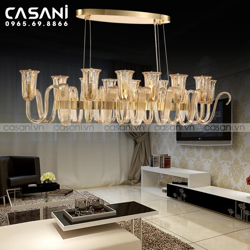 5 lợi ích khi chọn đèn chùm trang trí phòng khách nhỏ