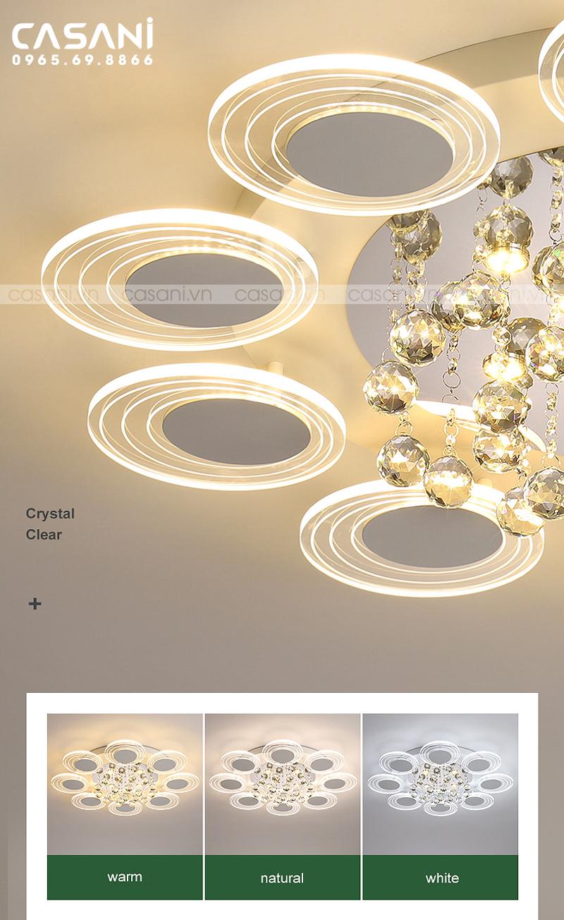 Đèn mâm ốp trần hiện đại CMH-6821-80