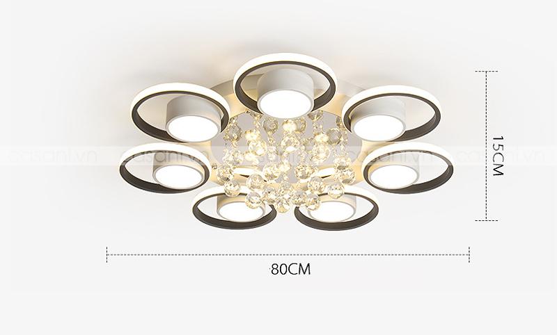 Đèn mâm ốp trần hiện đại CMH-6817-80
