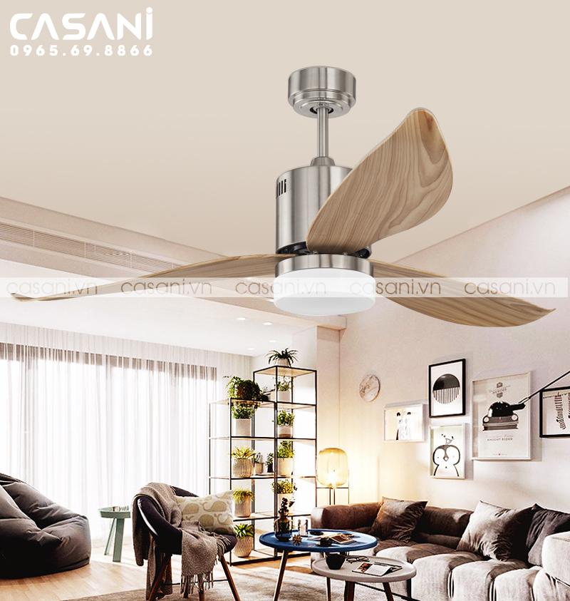 Hướng dẫn chọn quạt trần đèn cho phòng khách