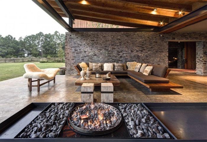 Stone House với Magnificent Xem Elias Rizo Arquitectos rõ ràng dòng thép ray thiết bị hiện đại