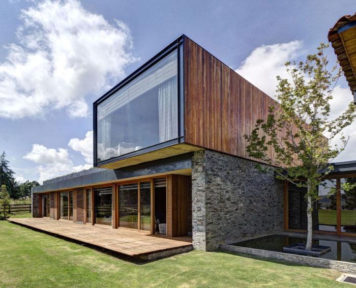 Stone House với Magnificent Xem bởi các bức tường xây Elias Rizo Arquitectos xây dựng khai thác đá tại địa phương