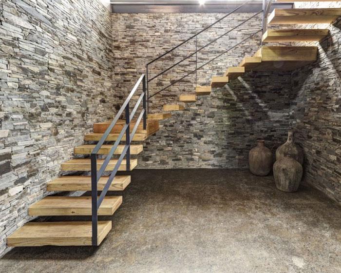 Stone House với Magnificent Xem Elias Rizo Arquitectos nội thất nhà ấn tượng gỗ đá