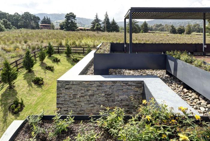 Stone House với Magnificent Xem Elias Rizo Arquitectos vườn gỗ đá