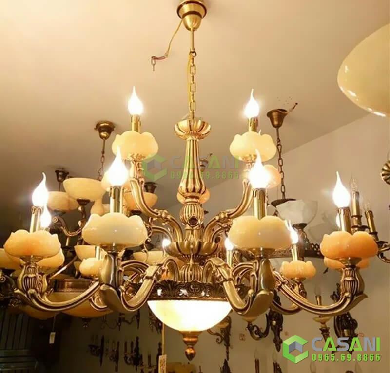 Một số lưu ý để chọn mua và lắp đặt đèn chùm bát đá hợp phong thuỷ
