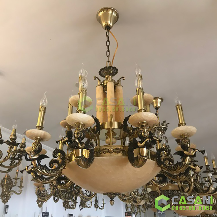 Những mẫu đèn chùm bát đá phù hợp với không gian phòng khách