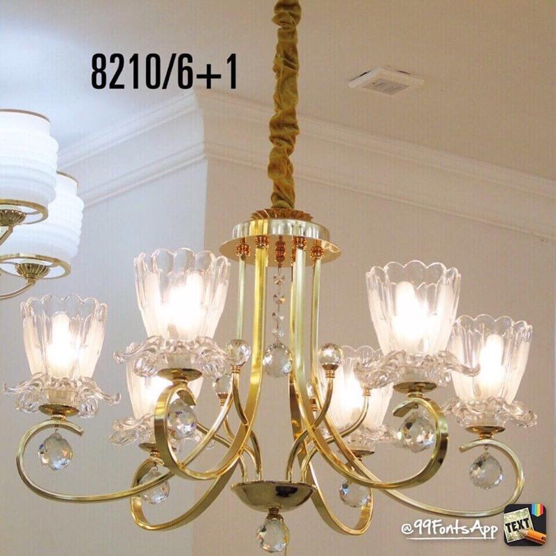 Đèn Chùm Đồng CCD-8210-6