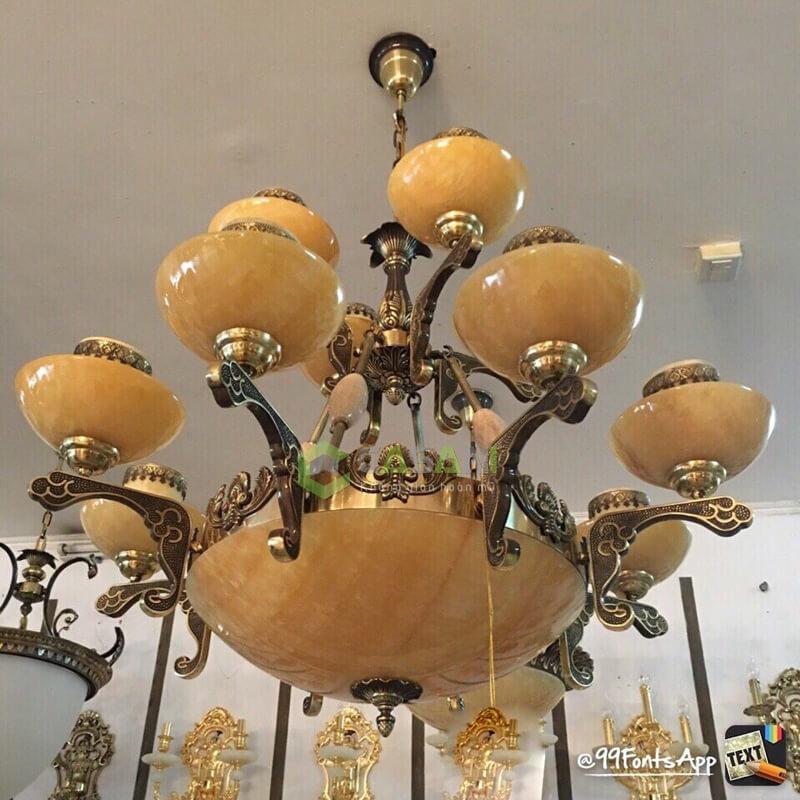 Mẫu đèn chùm đồng phong cách cổ điển hiện đại