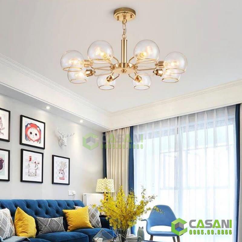 Đèn chùm thả hiện đại trang trí nội thất cực đẹp và sang