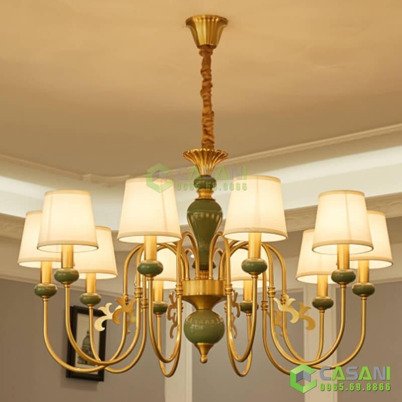 Đèn Chùm Mạ Đồng CCMD-7183-8