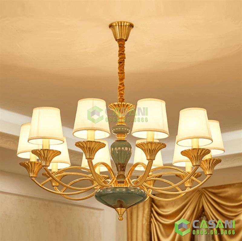 Đèn Chùm Mạ Đồng CCMD-7184-8