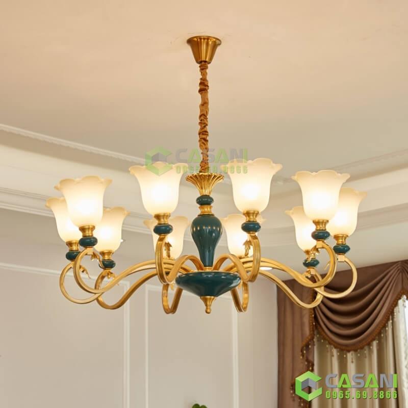 Đèn Chùm Mạ Đồng CCMD-7185-8