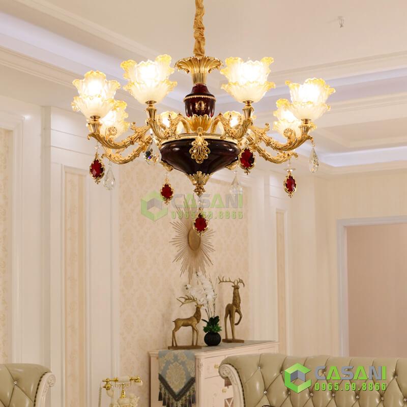 đèn chùm phòng khách tân cổ điển