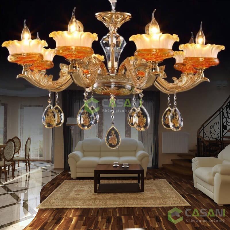 Mẫu đèn chùm cổ điển thiết kế sang trọng