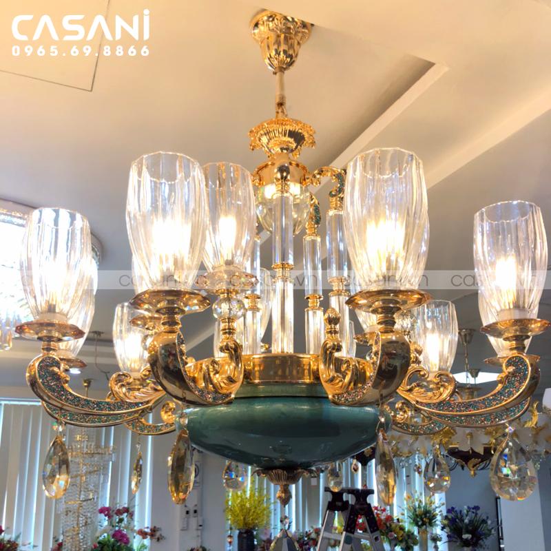 Bật mí cách chọn đèn trang trí cho phòng khách trần thạch cao