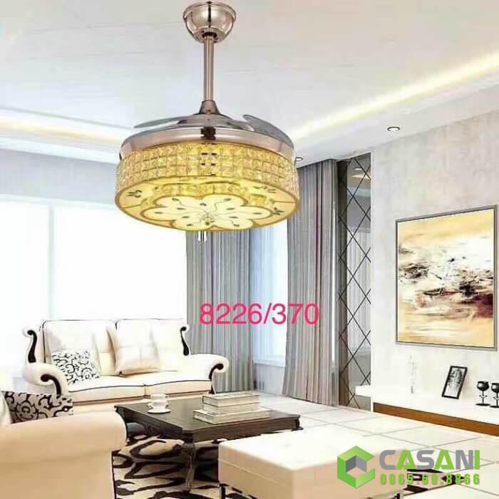 Quạt trần đèn chùm giúp tiết kiệm không gian