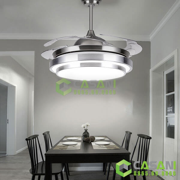 Đèn chùm quạt trần CQ8228