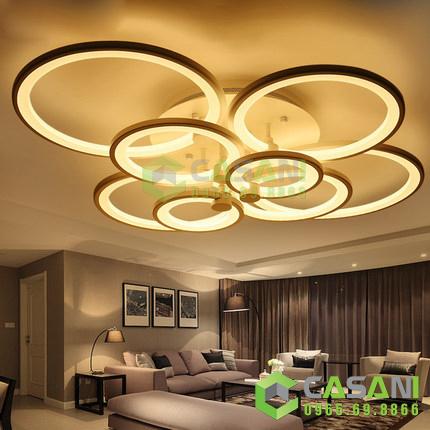đèn hiện đại phòng khách