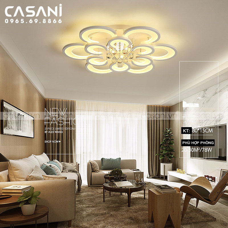 Hướng dẫn chọn đèn mâm trang trí cho không gian phòng khách