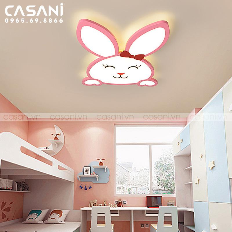 Trang trí phòng ngủ cho con độc đáo với đèn ốp trần hiện đại