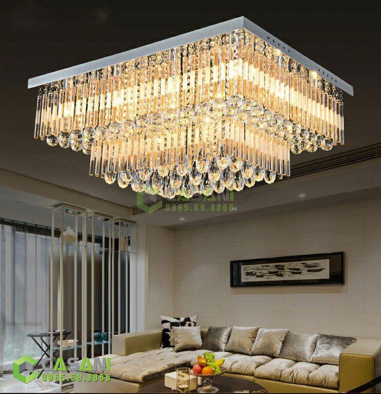 Những lưu ý quan trọng khi lựa chọn đèn mâm pha lê thiết kế cho phòng khách