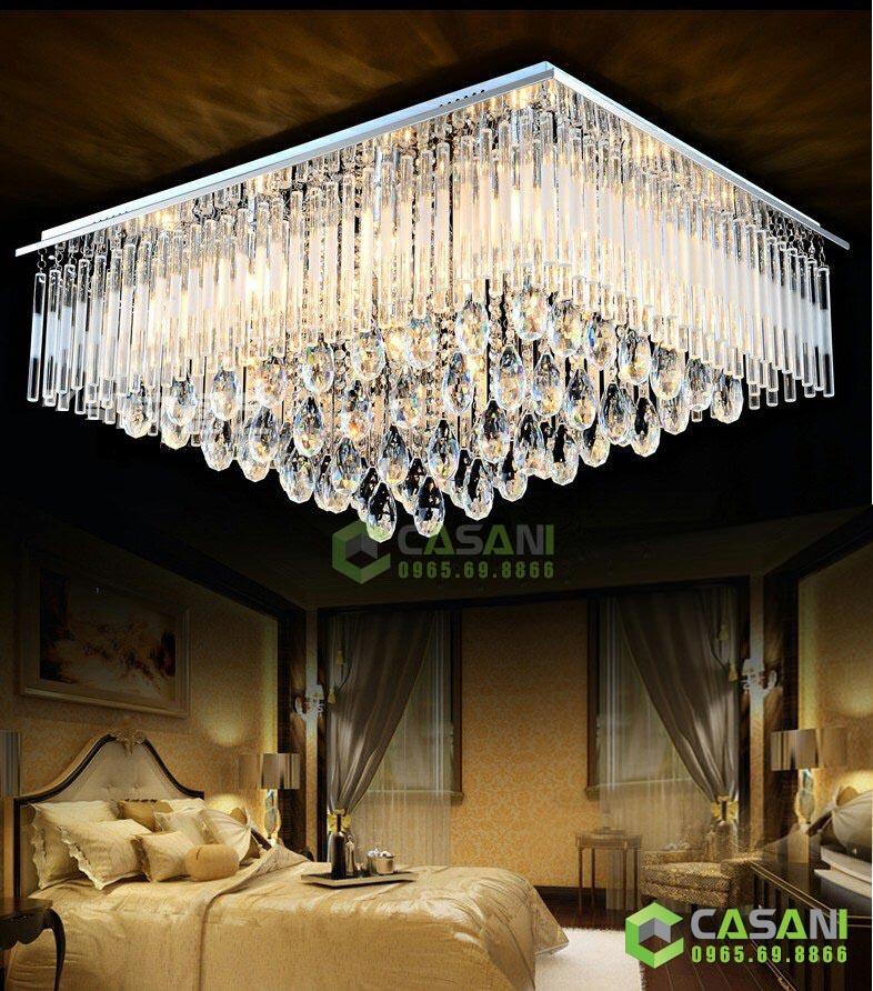 Vì sao nên lắp đặt đèn mâm led vuông cho phòng ngủ?