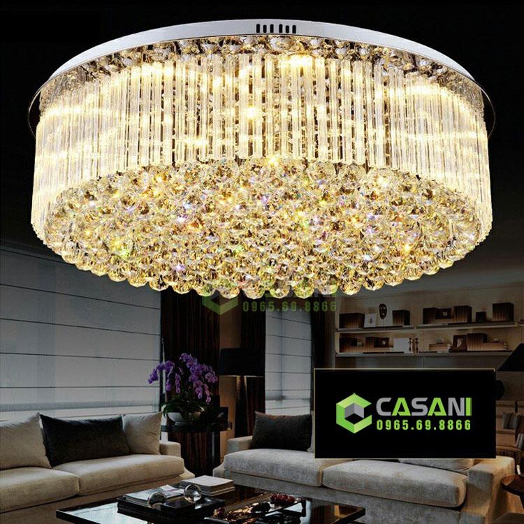 Cần lưu ý những gì khi lắp đặt đèn mâm cho phòng khách?