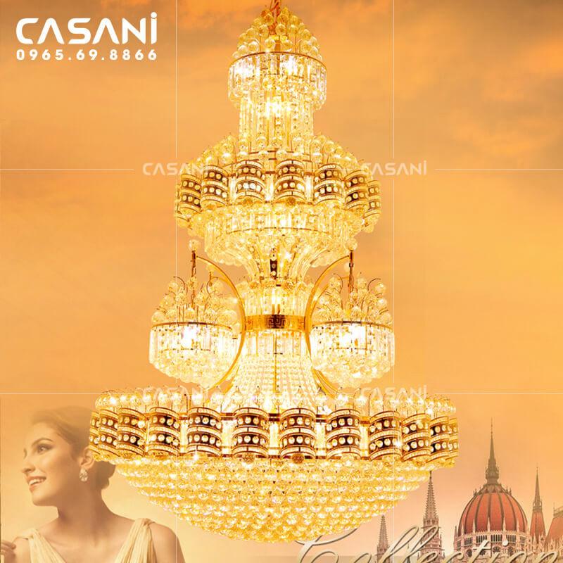 Thỏa sức lựa chọn các mẫu đèn chùm pha lê sang trọng cho khách sạn